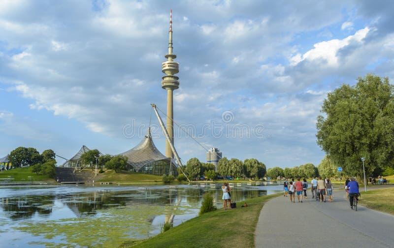 Parque de Munich Olympia fotos de archivo libres de regalías