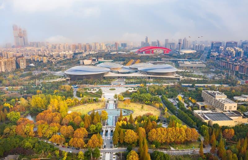 Parque de Nanjing Binjiang fotos de archivo