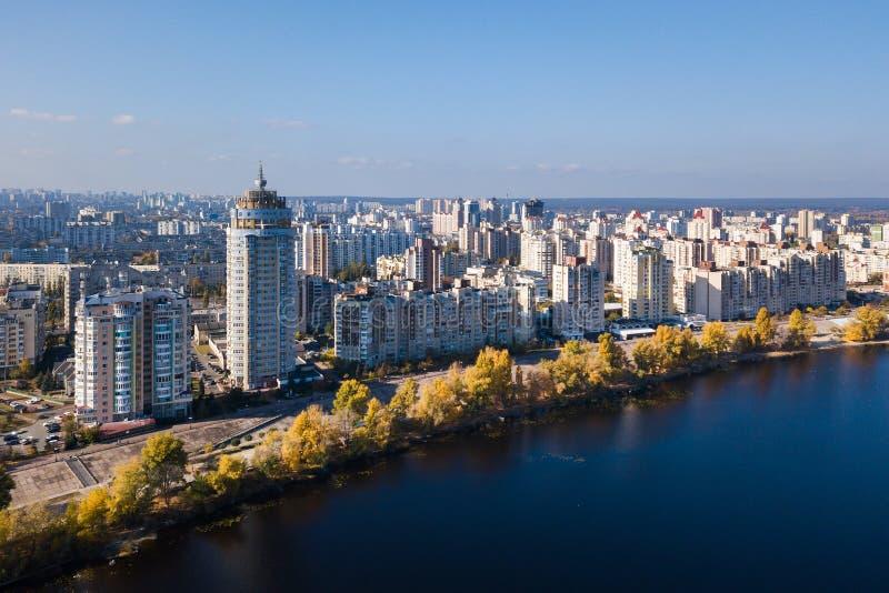 Parque de Natalka en el distrito de Obolon en Kiev fotografía de archivo
