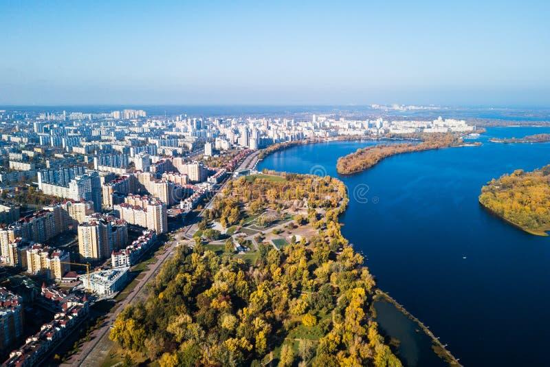 Parque de Natalka en el distrito de Obolon en Kiev fotografía de archivo libre de regalías