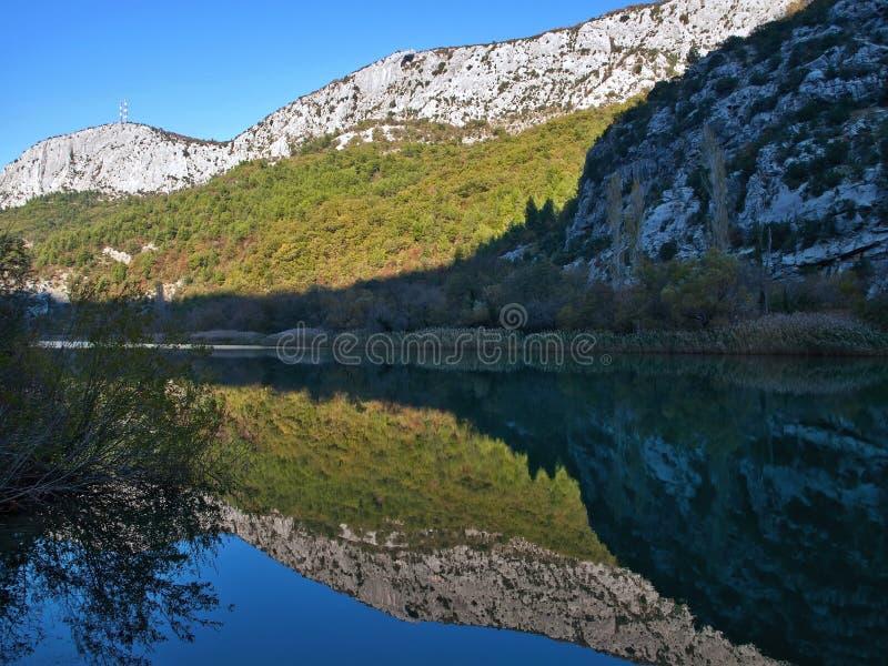 Parque de naturaleza Cetina imagenes de archivo