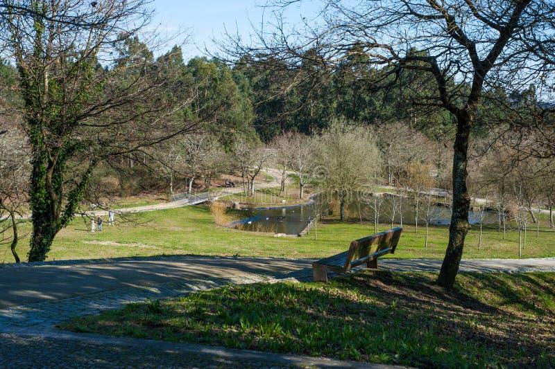 Parque de ocio al aire libre en Maia Portugal imagenes de archivo