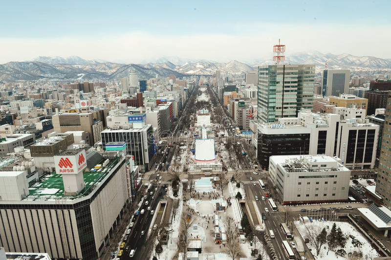 Parque de Odori (Sapporo) fotografia de stock royalty free