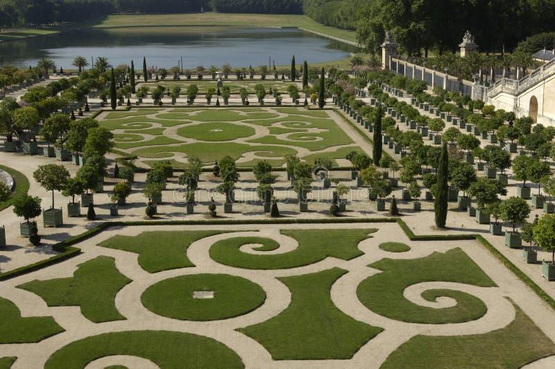 Parque de palacio de Versalles imagen de archivo