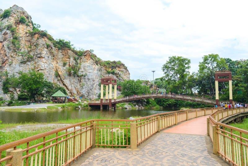 Parque de pedra de Khao Ngu em Ratchaburi, Tailândia foto de stock