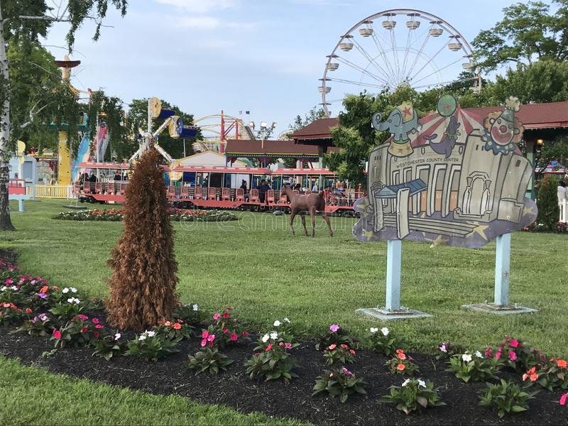 Parque de Playland em Rye, New York fotografia de stock royalty free