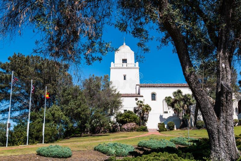 Parque de Presidio, sitio del primer acuerdo europeo en San Diego imagen de archivo