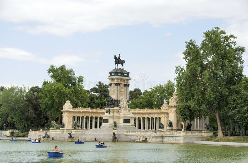 Parque de Retiro em Madrid, Spain foto de stock royalty free
