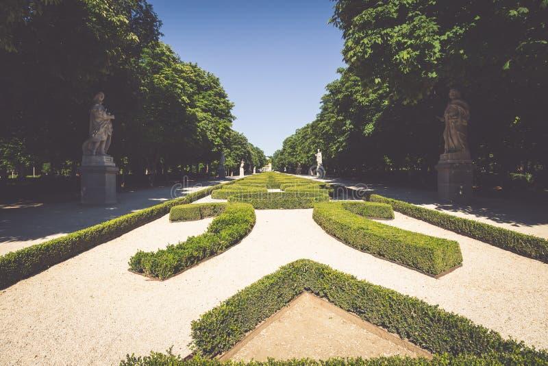 Parque de Retiro (Parque del Buen Retiro) en Madrid, España fotos de archivo libres de regalías