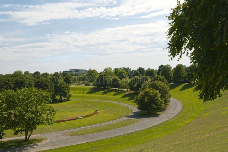 Parque de Rheinaue em Bona imagem de stock