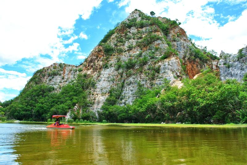 Parque de roca Khao Ngu, Ratchaburi, Tailandia fotos de archivo libres de regalías