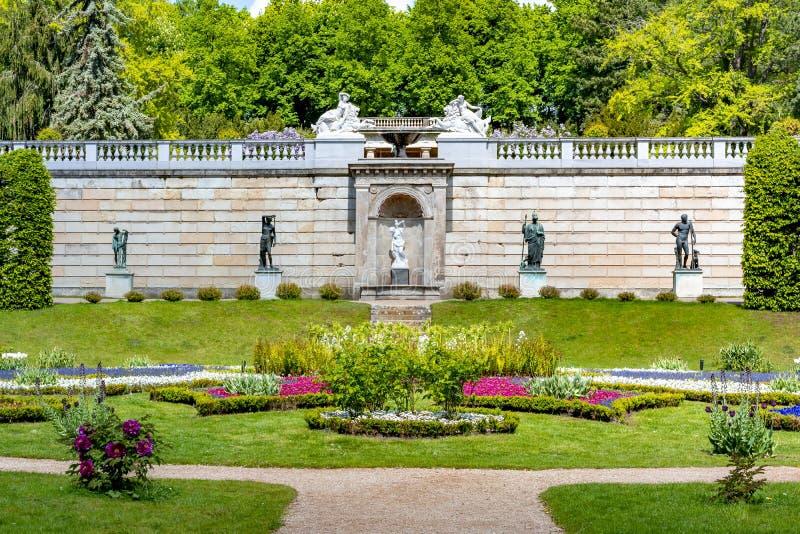 Parque de Sanssouci na mola, Potsdam, Alemanha imagens de stock