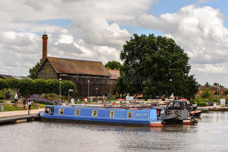 Parque de Stratford em Avon, Inglaterra, Reino Unido foto de stock