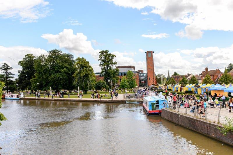 Parque de Stratford em Avon, Inglaterra, Reino Unido imagem de stock