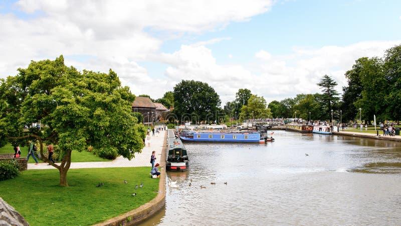 Parque de Stratford em Avon, Inglaterra, Reino Unido imagens de stock