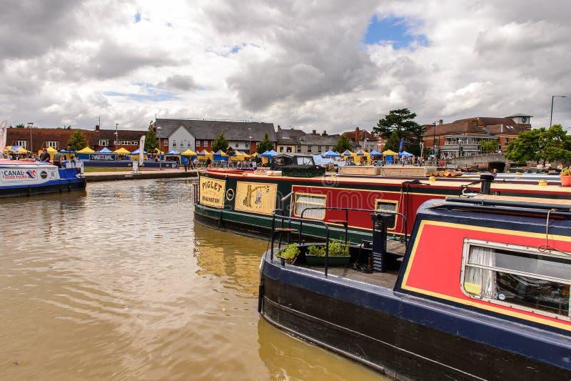 Parque de Stratford em Avon, Inglaterra, Reino Unido fotos de stock
