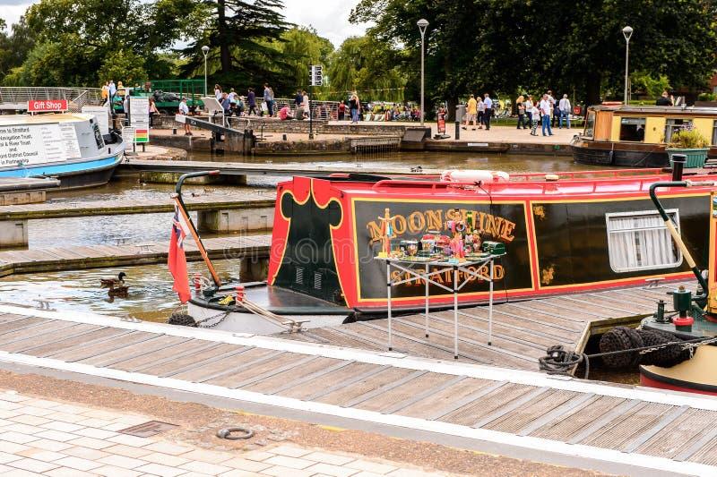 Parque de Stratford em Avon, Inglaterra, Reino Unido fotografia de stock