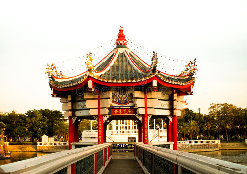 Parque de Tamnaknam de Thetsaban Chonburi fotografía de archivo