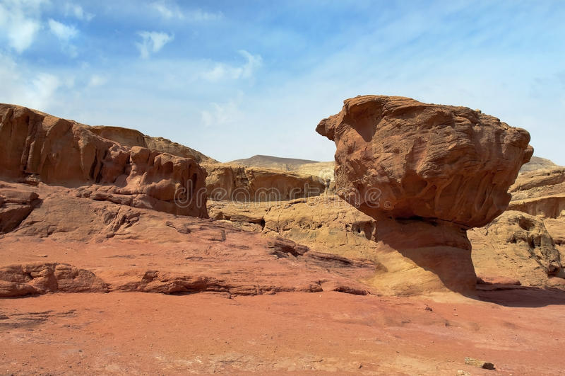 Parque de Timna, deserto montanhoso fotografia de stock royalty free