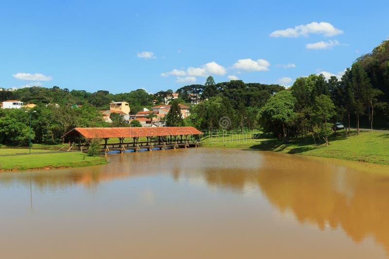 Parque de Tingui, Curitiba, estado Paraná, el Brasil fotografía de archivo libre de regalías