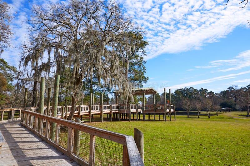 Parque de Tomball Burroughs em Houston Texas fotografia de stock
