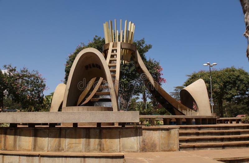 Parque de Uhuru en una Nairobi imagenes de archivo