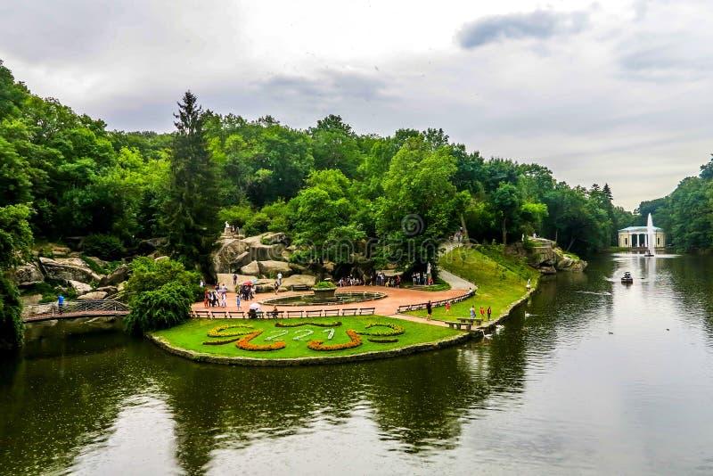 Parque 17 de Uman Sofiyivka fotografía de archivo libre de regalías