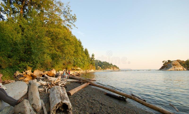 Parque de Whytecliff, Vancouver del oeste, A.C. imagen de archivo libre de regalías