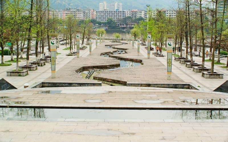 Parque de Yaan China-Sanya após a chuva imagem de stock