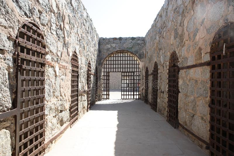 Parque de YUMA Territorial Prison State Historic foto de archivo libre de regalías