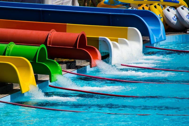 Parque del agua de las diapositivas foto de archivo libre de regalías