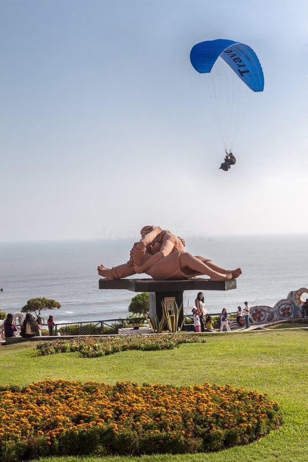 Parque del Amor Lima Peru royaltyfri foto