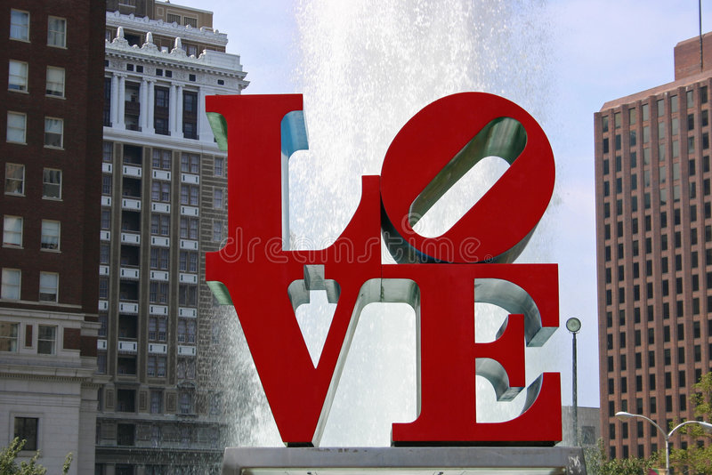 Parque del amor, Philadelphia foto de archivo libre de regalías