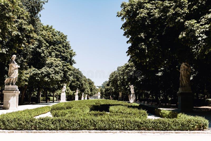 Parque del Buen Retiro à Madrid, Espagne photographie stock