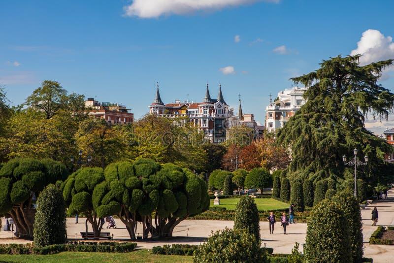 Parque del Buen Retiro en Madrid, España fotos de archivo libres de regalías