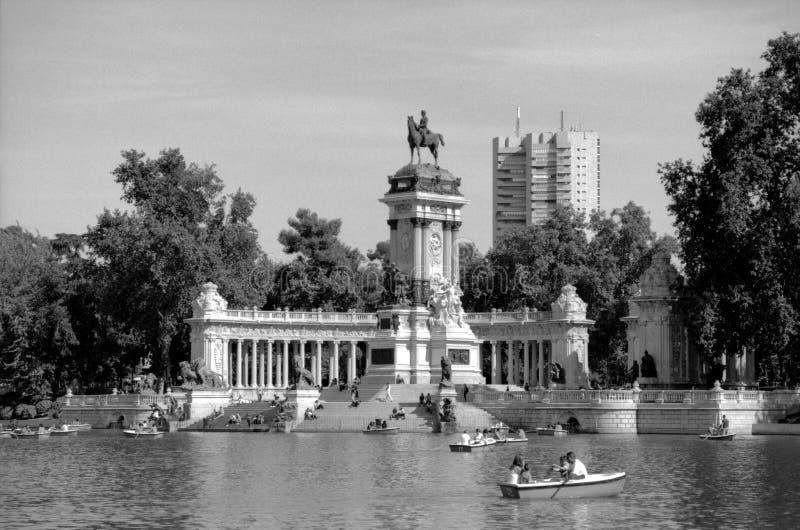 Parque del Buen Retiro - Madrid immagini stock