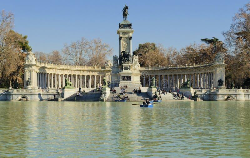 Parque del buen retiro in Madrid - Spain stock image