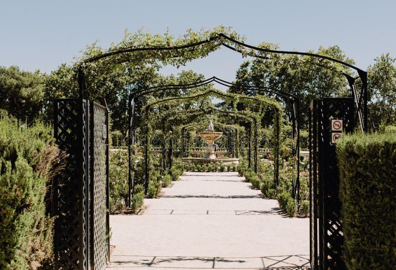 Parque del Buen Retiro in Madrid, Spanje royalty-vrije stock fotografie
