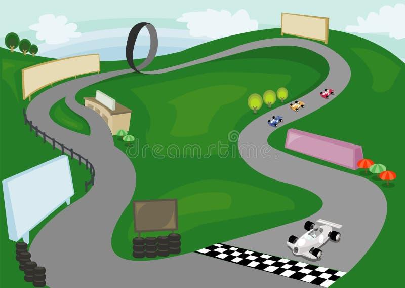Parque del coche de competición del día imagenes de archivo