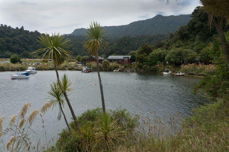 Parque del día de fiesta de Waikaremoana del lago fotos de archivo