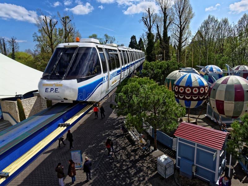 Parque del Europa del tren expreso fotografía de archivo