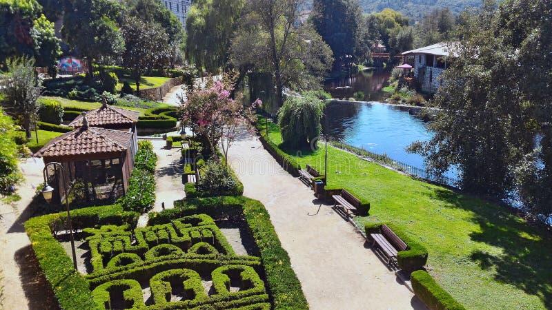 Parque del gallego de Allariz foto de archivo