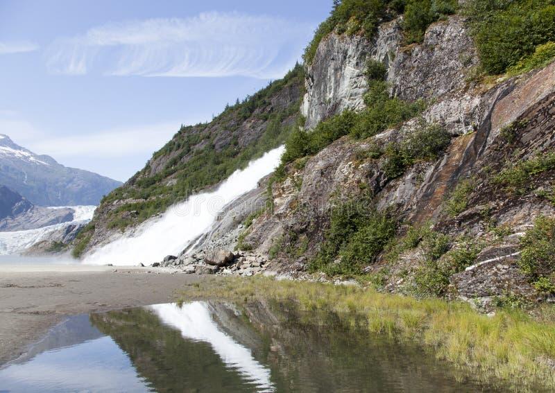 Parque del glaciar del ` s Mendenhall de Alaska fotografía de archivo