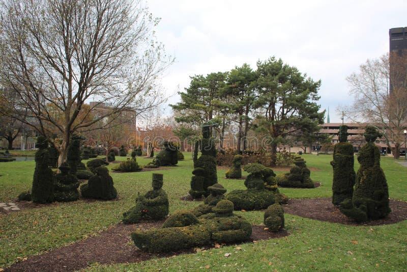Parque del jardín del Topiary, Columbus Ohio imagen de archivo