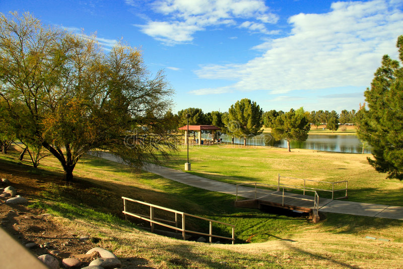 Parque del lago MCKellips imagen de archivo libre de regalías