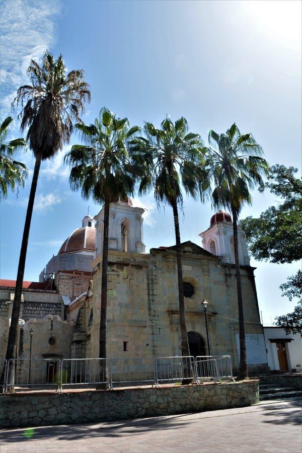 Parque del Llano en Oaxaca del en e de Iglesia fotografía de archivo