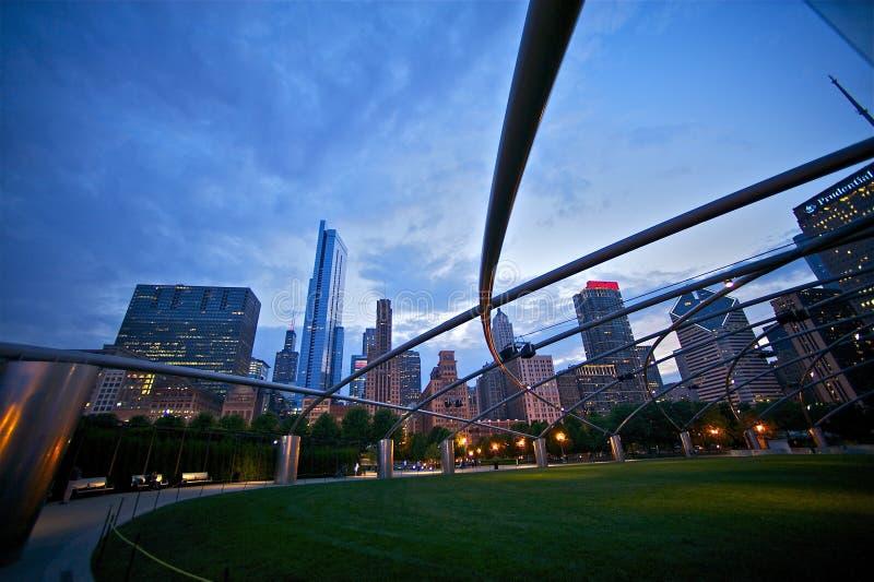Parque del milenio: Ciudad de Chicago fotos de archivo