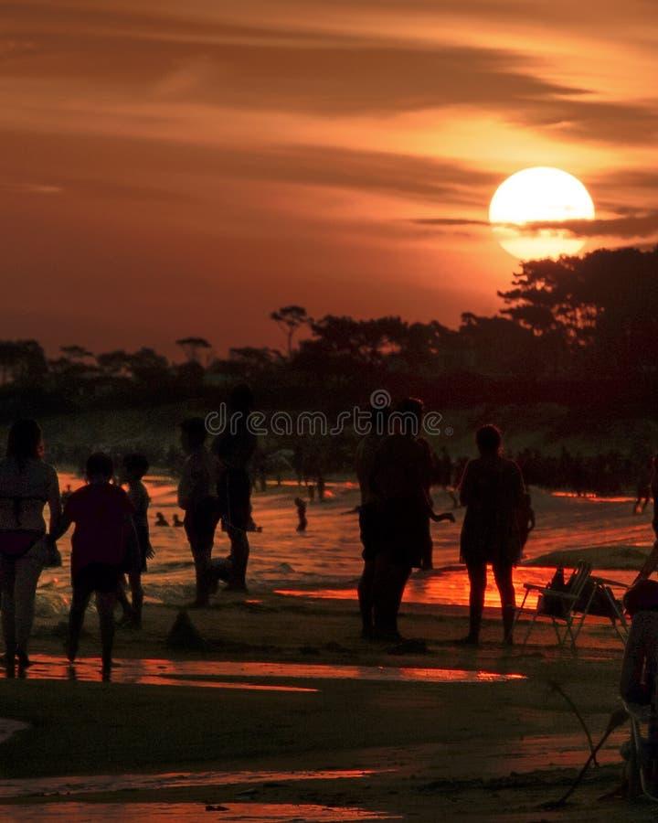 Parque Del Plata Beach, Canelones, Uruguay stockfoto