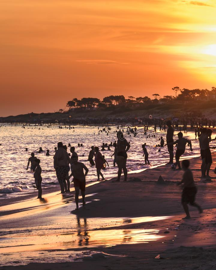 Parque del Plata Praia, Canelones, Uruguai imagem de stock royalty free