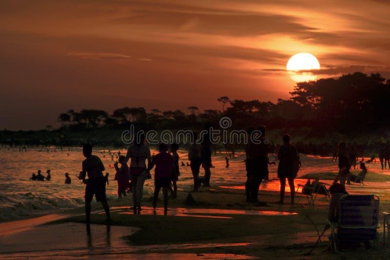 Parque del Plata Praia, Canelones, Uruguai foto de stock royalty free